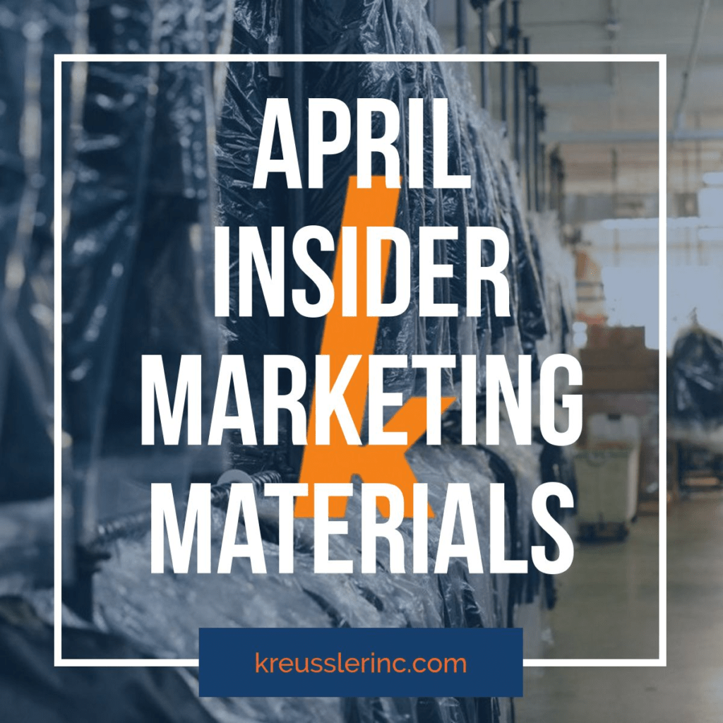 Kreussler Inc April Insiders Marketing Materials