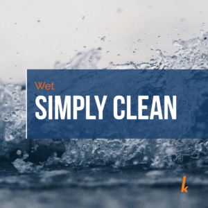 Wet cleaning is simply clean