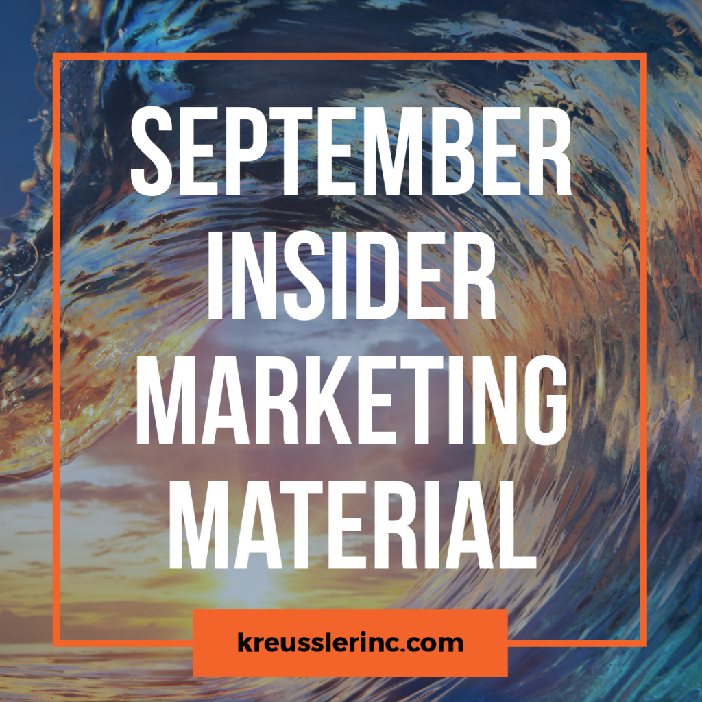 Kreussler September Marketing Materials