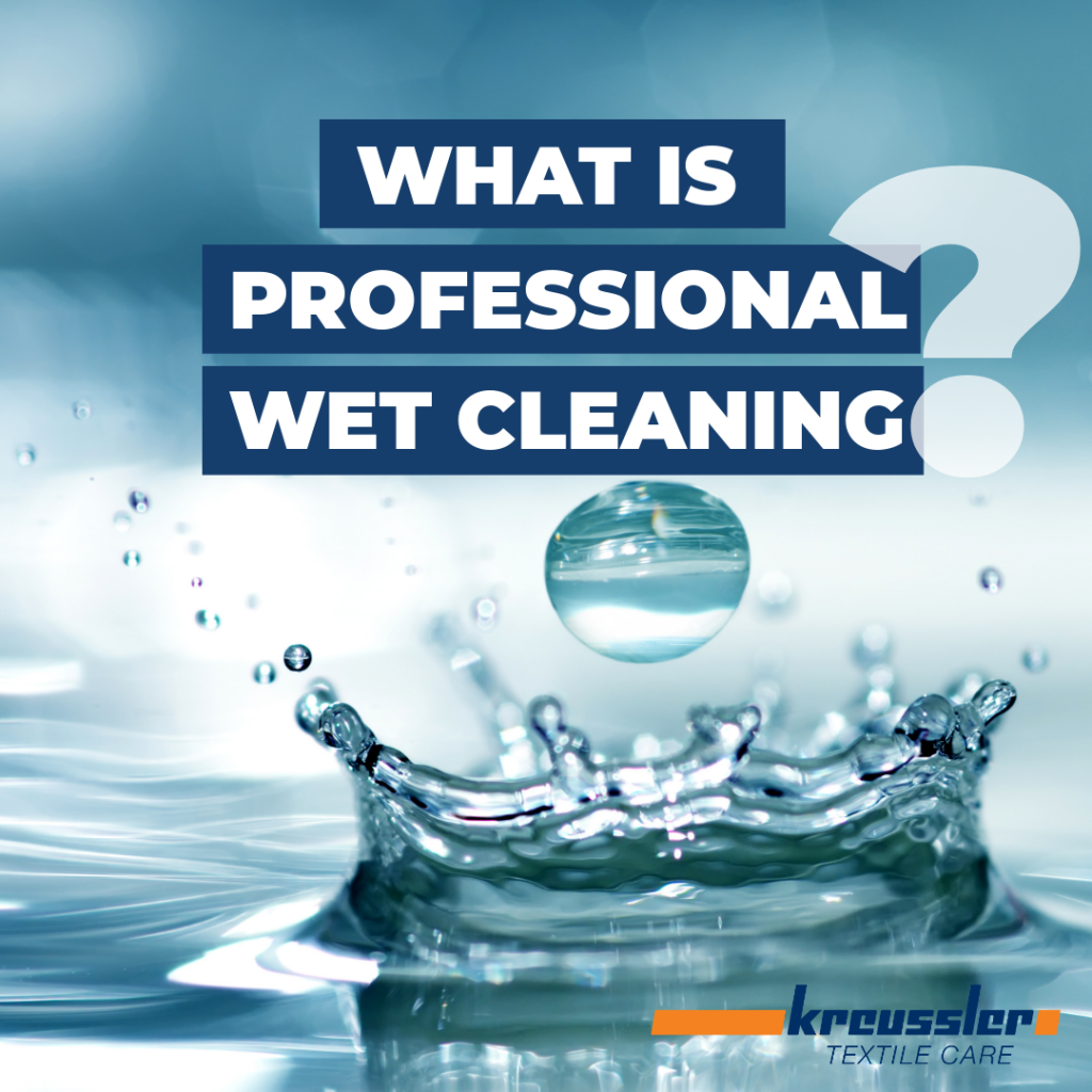Wet cleaning is a procedure for the professional cleaning of textiles in water without using organic solvents.